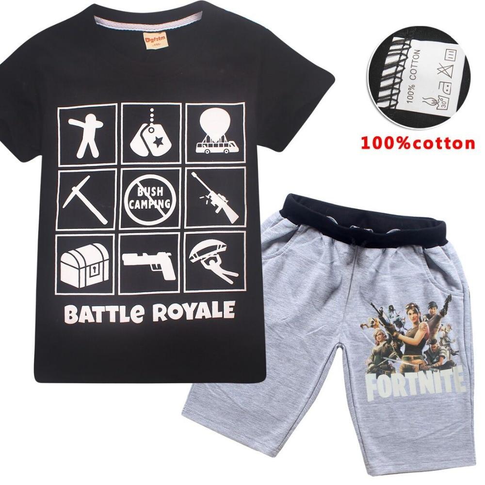 1a565503 Summer Children Boys Clothes Girls Fortnite T Shirt Cartoon Cotton ...
