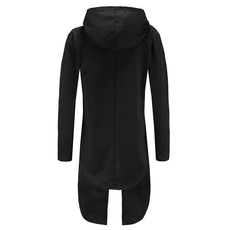 Hombres Streetwear Negro Negro gris Hoddies Hombre Con Traje Oscuro Moletom Larga Capucha Vestido Capa Masculino Sudaderas 2018 Chaqueta Manto xI7AqBB4