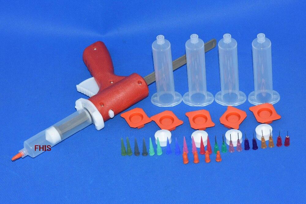 30 ミリリットル手動配管シリンジガン単一の液体グルーガン & 30CC コーン 5 個 & 調剤ヒントシリコーン接着剤接着剤接合押出ツール  グループ上の ツール からの 工具部品 の中 1