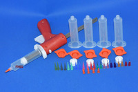 30ML Manual Syringe Gun Single Liquid Glue Gun 30CC Common 1PCS 30CC Cones 5PCS Dispensing Tips