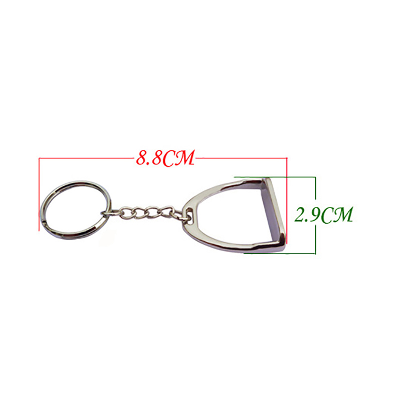 Horse Keychain Zinc Alloy Stirrup Key Chain Small Fine Workmanship Hanging Ornament Horse Equipment Strzemiona