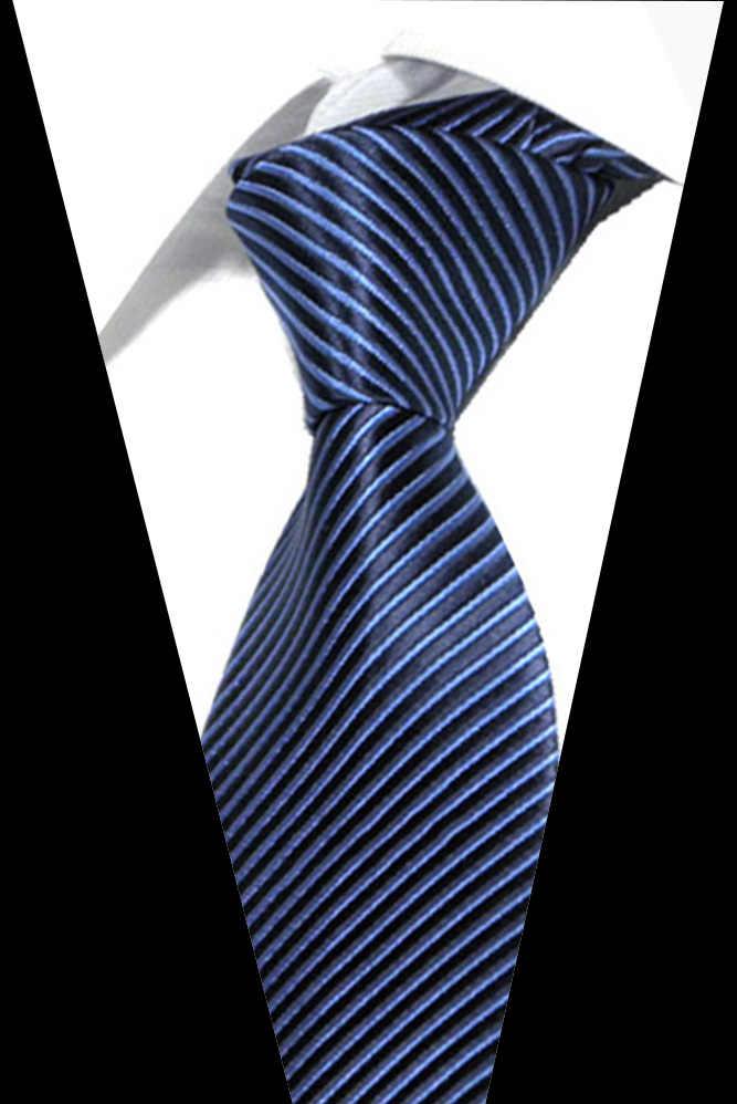 남성 넥타이 블랙 넥타이 의류 액세서리 정장 웨딩 파티 스트라이프 넥타이 남성용 패션 선물 자카드 실크 넥타이