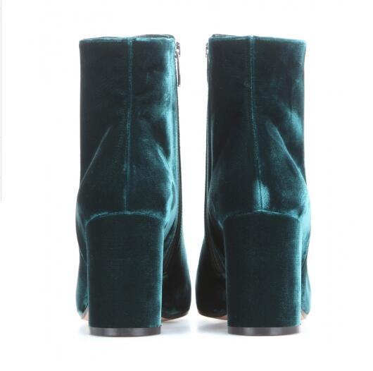 Velvet-Round-Toe-Woman-Ankle-Booties-Autumn-Winter-Chunky-Heels-Woman-Fashion-Blue-Green-Side-Zipper (1)