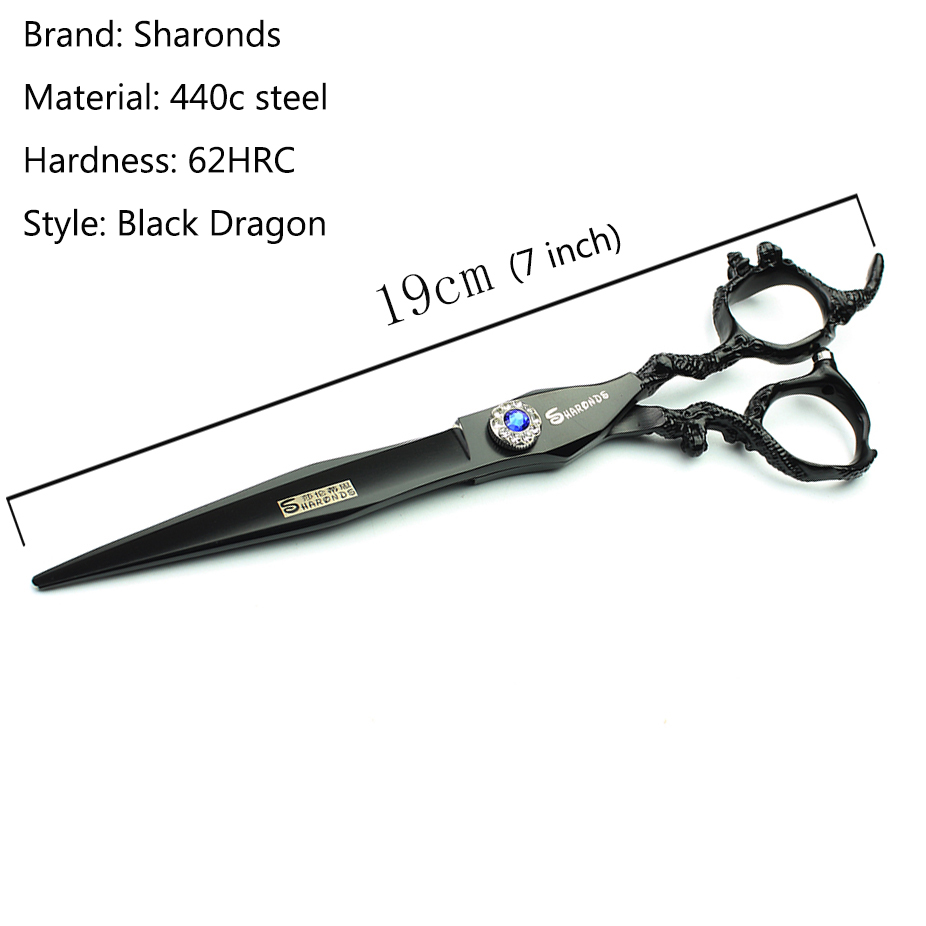 Купить с кэшбэком Black dragon hairdressing scissors 7&6&5.5 inch salon professional hairdressing cutting scissors and thining scissors set