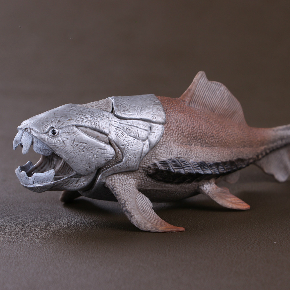 Simulation Dinosaur Toy Model Ancient Sea Monster Tang Fish In Devonian Period Dunkleosteus Model For Kids toy bwl 01 tyrannosaurus dinosaur skeleton model excavation archaeology toy kit white