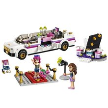 BELA Friends Series Pop Star Limo Building Blocks Classic For Girl Kids Model Toys Minifigures Marvel Compatible Legoe