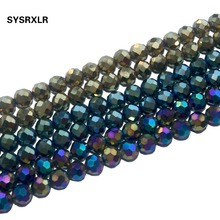 Free Shipping Natural Stone Beads Faceted 6 Colors Hematite Loose For Jewelry Making Diy Bracelet Necklace 8 10 MM
