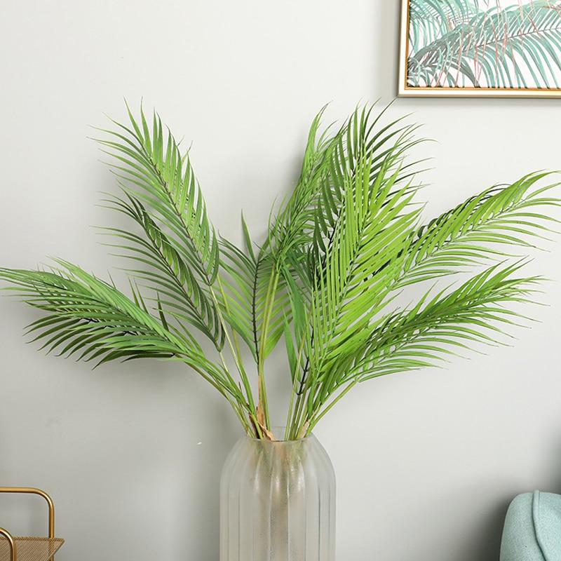 Artificial Green Plant Coconut Leaf Artificial Palm Trees For Home Wedding Garden Decoration Faux Plants House Plants Bonsai