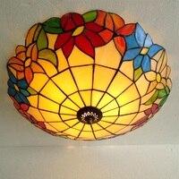Свет цветок красивый Европейский Средиземноморский потолочный светильник освещения светодиодный спальня шкафчик коридор балкон спальня