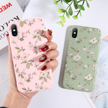 Moskado Colorful Floral Leaves Case For iPhone 7 8 6 6S Plus X XR XS Max 5 5s SE Phone Flowers Soft TPU Silicone Back Cover