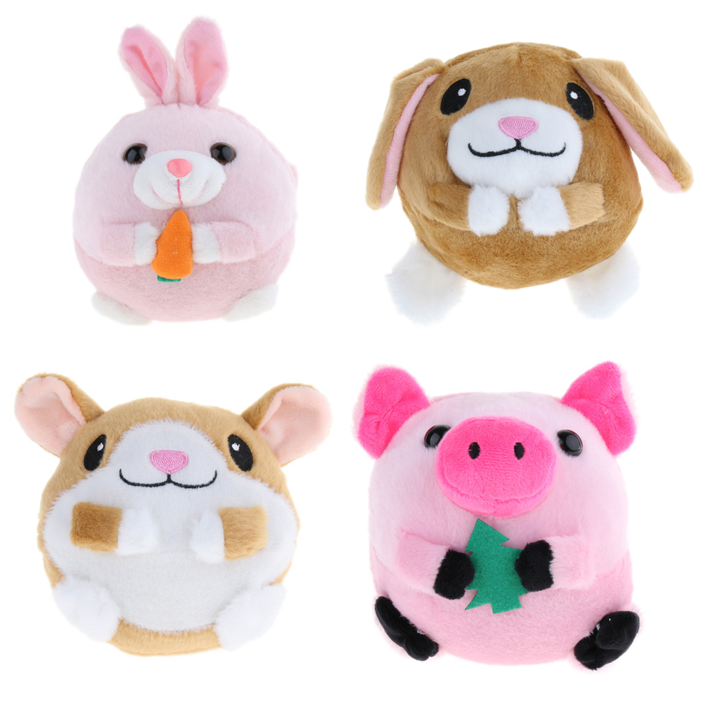 Talking & Walking Interactive Toy For Kids And Toddlers Modern Design Stuffed Animals & Plush Hard-Working 5.5 Inch Plush Animal Repeats What You Say Electronic Jumping Doll