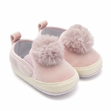 Baby Girl Shoes Pink Flocculus Infant Shoes Slip-on First Walkers Crib Shoes Toddler Loafers Baby Booties Sapatos Infantil Menin