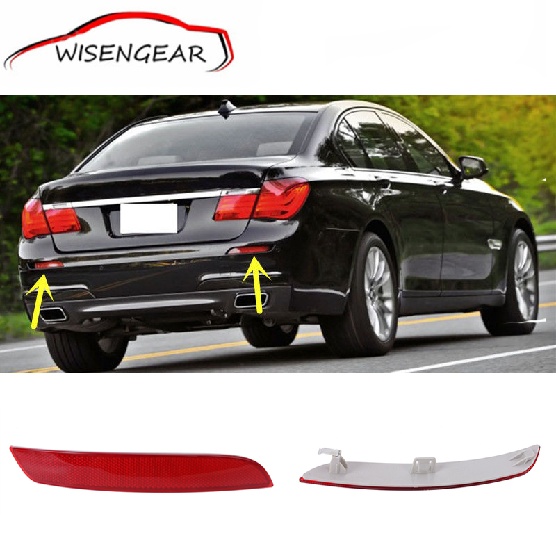 ФОТО Red Lens Rear Bumper Reflector Fog Warn Light For BMW F02 F03 F04 7-series 2008 - 2012 Car styling 63147182191  63147182192 C/5