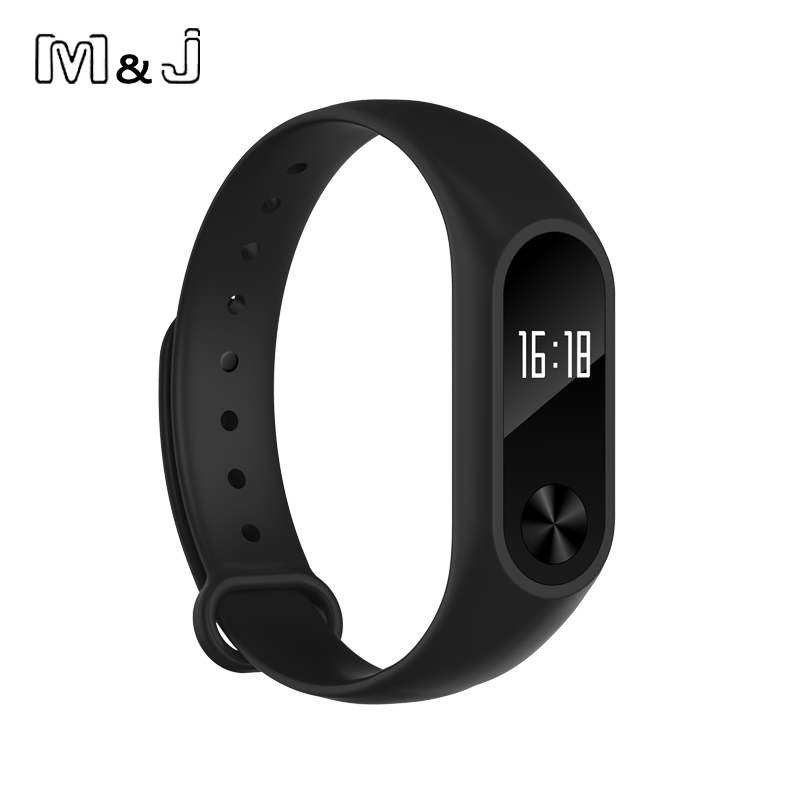M J 2016 IPX67 Waterproof Smart Wristband Y2 Smart Heart Rate Sleep Monitor Smart Bracelet For