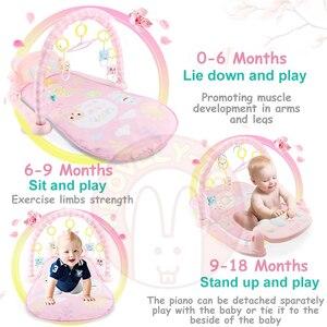 Image 4 - תינוק לשחק מחצלת ילדי של שטיח זחילה כרית ילד פיתוח Playmat מוסיקה תינוקות שטיח רעשן פעילות חינוך צעצועים לילדים