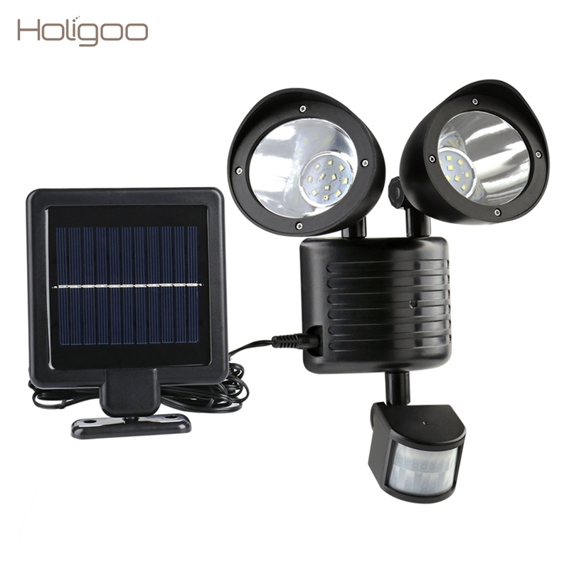 Double Insulated Outdoor Security Lights: Holigoo 22 LED Solar Lamp Outdoor Waterproof Street Light