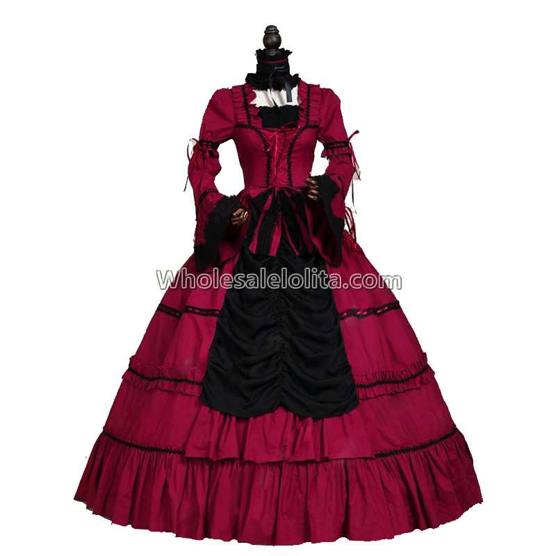 Renaissance Wench Gothic Princess Dress Ball Gown Steampunk Sexy Vampire Theatre Halloween Costume Coats