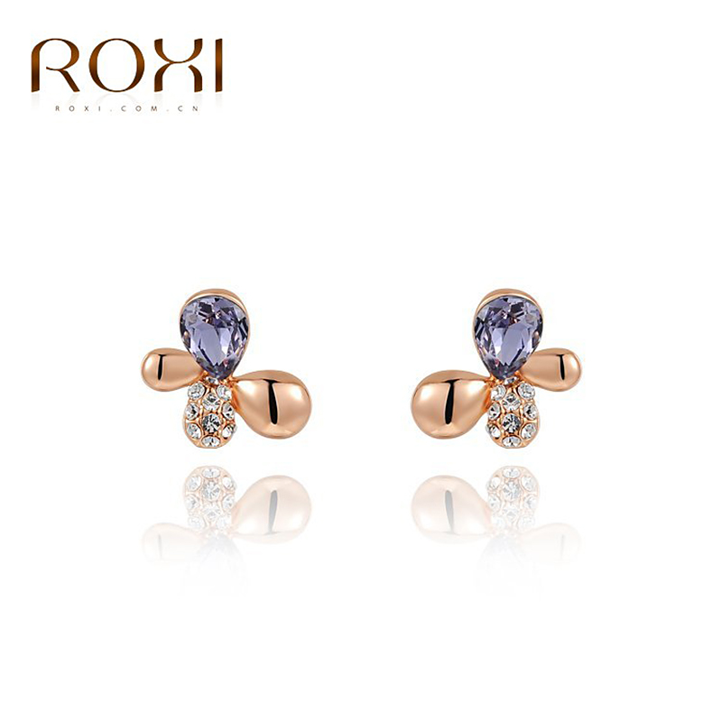 ROXI fashion girls butterfly Earrings for elegant women party , wholesale,best Vacation/birthday gifts,
