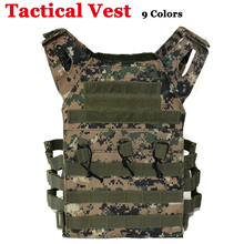 лучшая цена Army Tactical Vest Molle Military Equipment Plate Carrier Vest Men Outdoor Camoufalge Hunting Shooting Combat Vest Body Armor