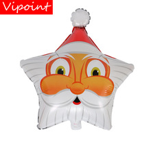 VIPOINT PARTY 60x48cm white Santa Claus star foil balloons wedding event christmas halloween festival birthday party HY-337