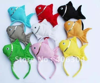 Free shipping children adult Colourful fish animal series headband Party headwear for Easter party christmas children