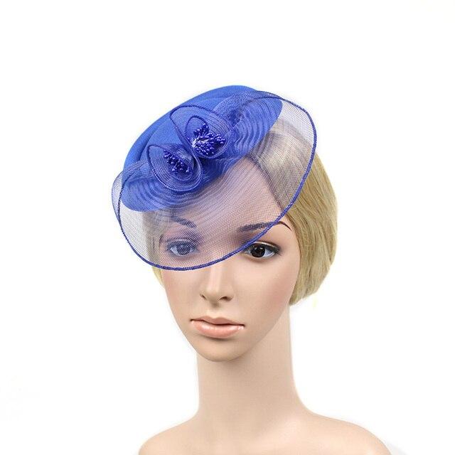 New Classic Top Hat Organza Mesh Hair Clip Fascinator Wedding Bridal Party Wedding Brides Hair Accessories
