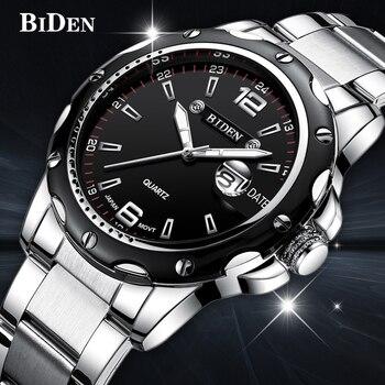 Reloj masculino BIDEN de marca de lujo analógico reloj de pulsera deportivo  pantalla Fecha hombres reloj de cuarzo negocio reloj hombres estudiante ver 08fb4479c7d2