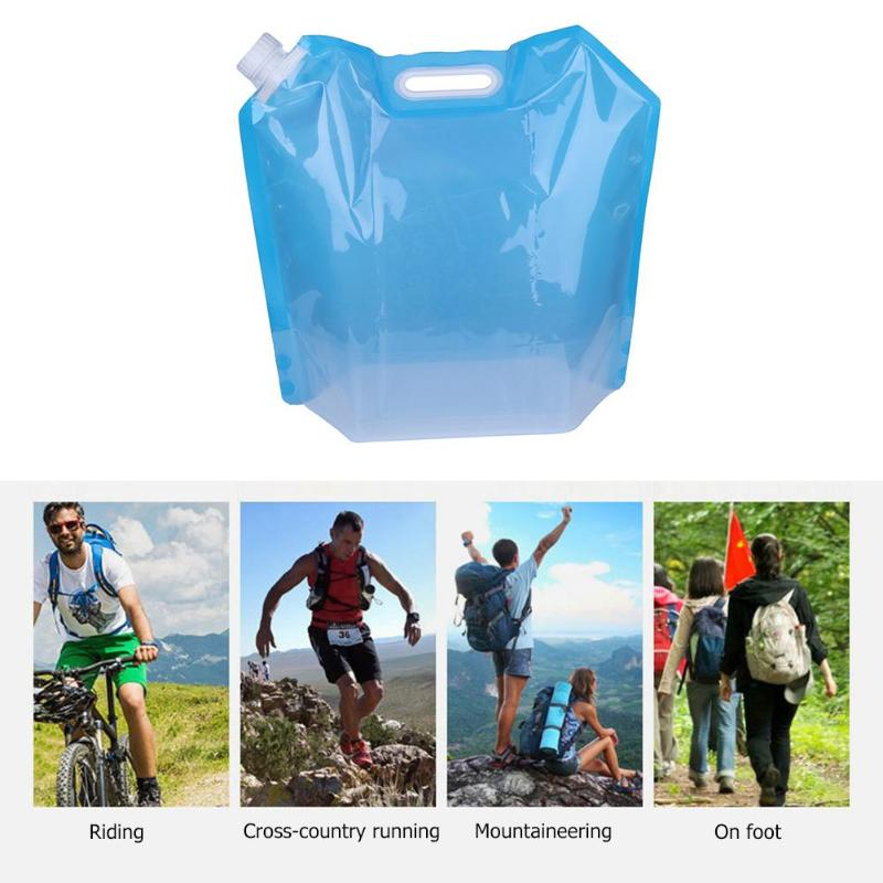 3L Portable Folding Outdoor Drinking Water Bag Sports Camping Hiking Travel Water Container Carrier Holder Hiking Accessories