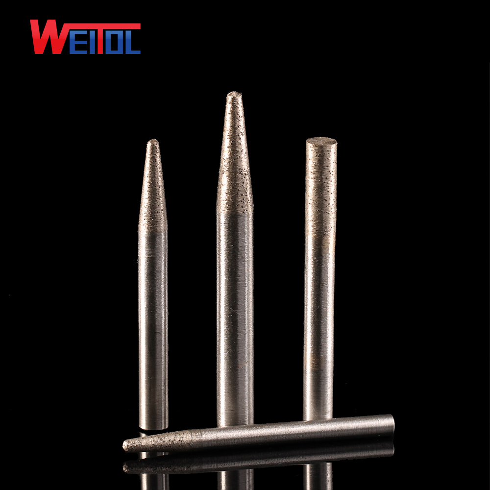 Weitol Free Shipping 6mm/8mm Shank Stone Engraving Bits Sintered Stone Carving Tools Diamond Router Bits CNC Milling Cutter
