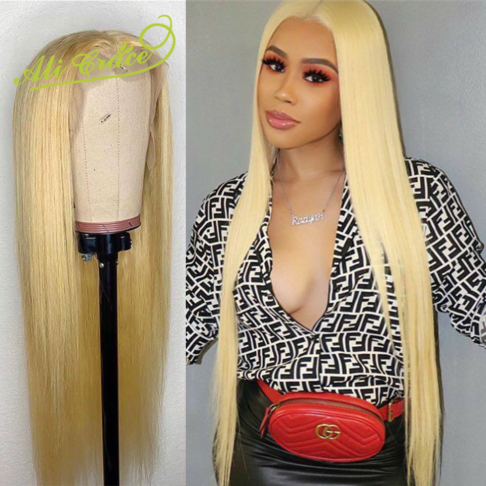 Ali Grace 13 6 613 Blonde Lace Front Wig Malaysian Straight 130 150 Density Pre Plucked
