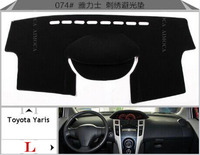 Car Dashboard Avoid Light Pad Instrument Platform Desk Cover Mats Carpets Auto Accessories For Toyota Yaris