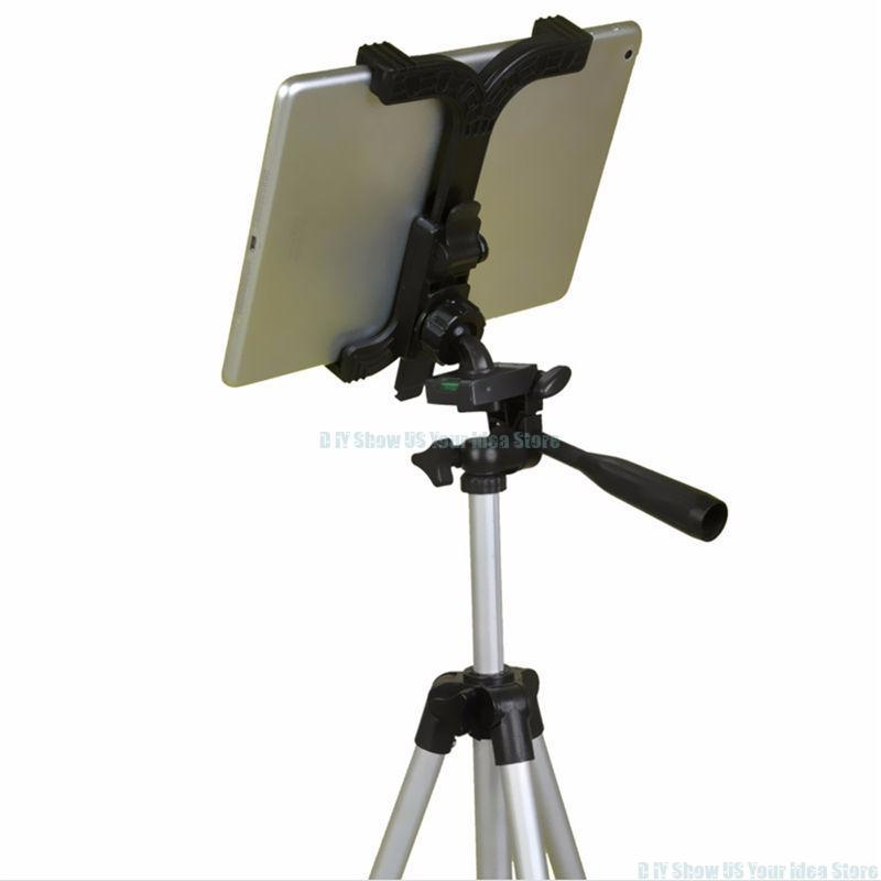 High Quality ABS Self Stick Tripod Mount Stand Holder Tablet Mount Holder Bracket Clip Accessories For 7 11 Inch Tablet For iPad