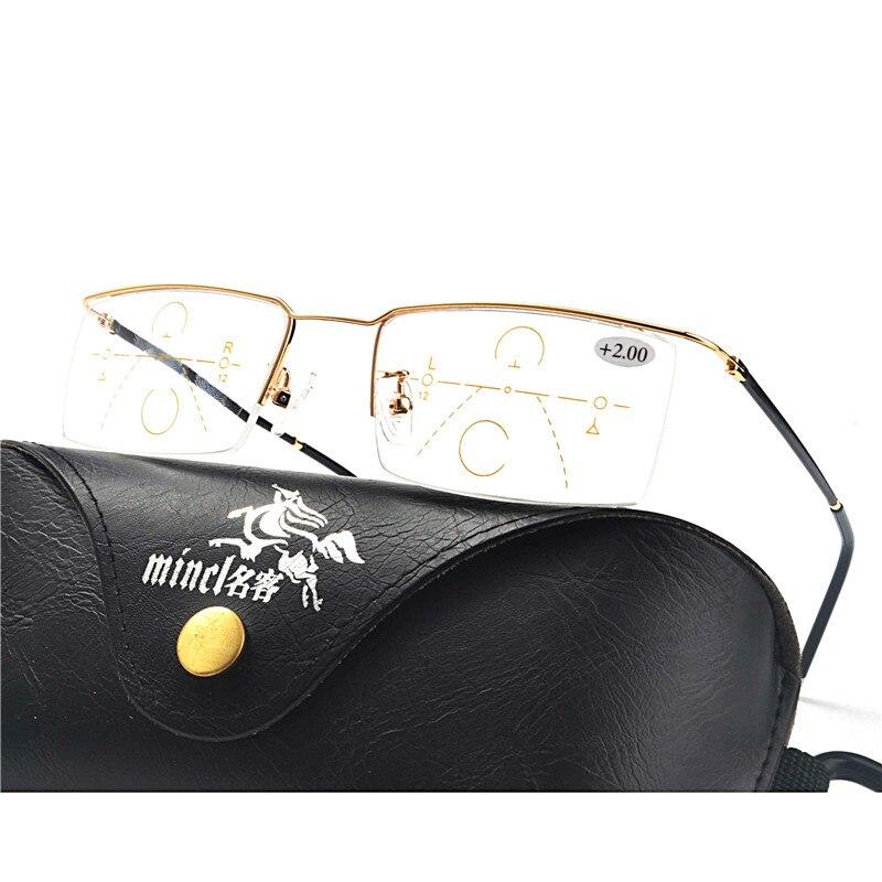 Men's Reading Glasses Logical Mongoten Prescription Lens Frame Business Men Alloy Full Rim Optical Eywear Frame Black Silver Goggle Optical Reading Eyeglasses