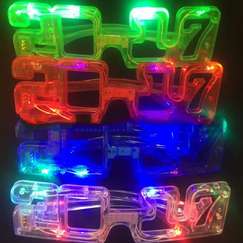 Christmas Party Light Glasses Prom Baby Decoration Glowing Glasses Christmas Glowing Glass Kids Props