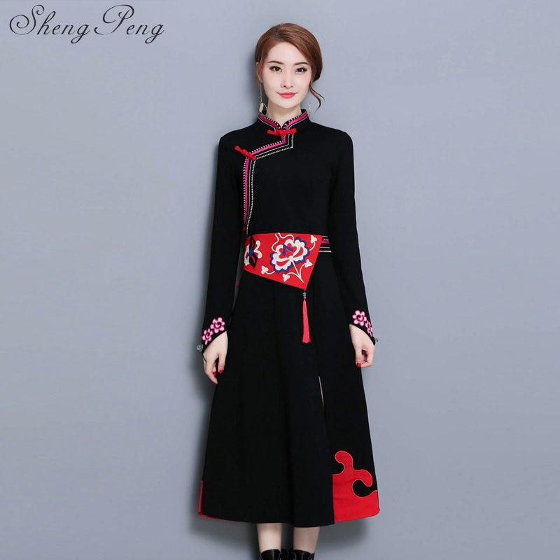 2018 new wedding dress female long short sleeve cheongsam lace chinese traditional dress women qipao for