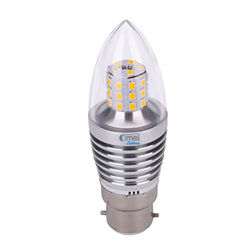 6-Pack Dimmable 60w E26 medium base 6w led chandelier light bulbs bullet top incandescent candle bulb
