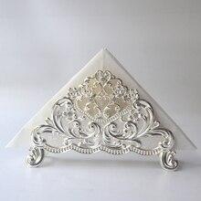 European pattern towel rack / silver plated metal holder napkin seat home hotel coffee shop model room accessories