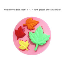 Silicone flip sugar chocolate cake decorative mold four maple leaf shape Hand Made Soap Silicone Mold tama mk52hlzbns sgw superstar hyper drive maple sugar white
