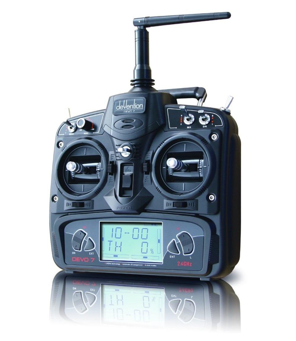 ФОТО F09923 Walkera RC Drone Remote Controller Devo7 Transmitter 7 Channel DSSS 2.4G Transmiter & RX701 Receiver Heli Quadcopter