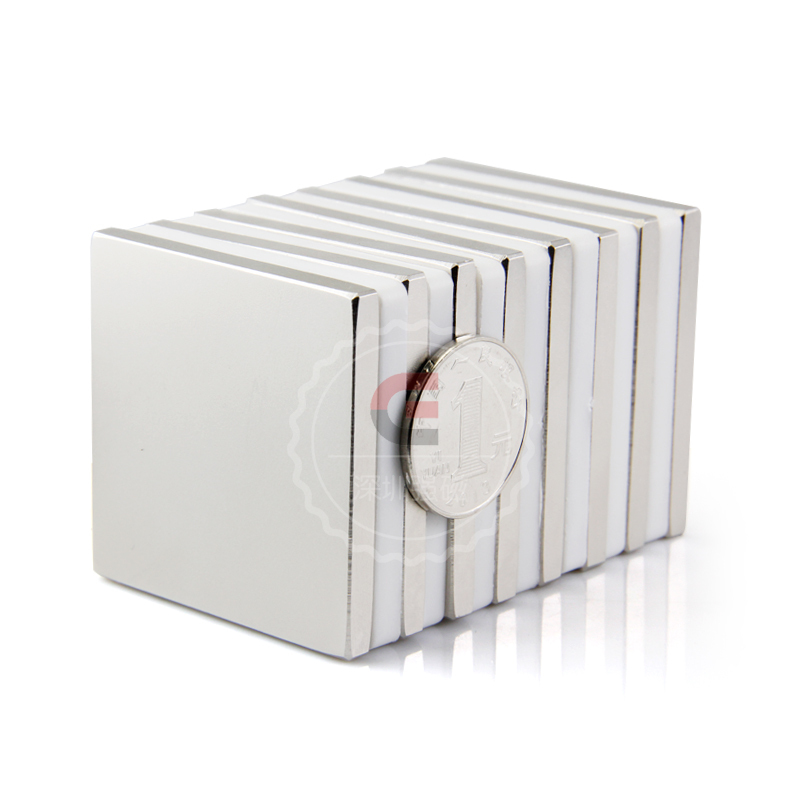 1pcs Strong Rare Earth Block Neodymium Magnets N50 L50x50x5mm per  wholesale permanent magnet strong 1 2 1 5 1 8