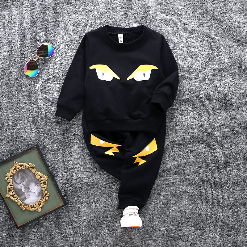 Spring / Autumn 2017 toddler baby set boy girl cartoon T-shirt + pants childrens Christmas clothing high quality Free Shipping