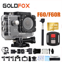F60/F60R 16MP 4K Wifi Action Camera 170D Wide Lens 30M Underwater 1080P HD Camera Go Waterproof Pro Sport DV Bike Helmet Camera