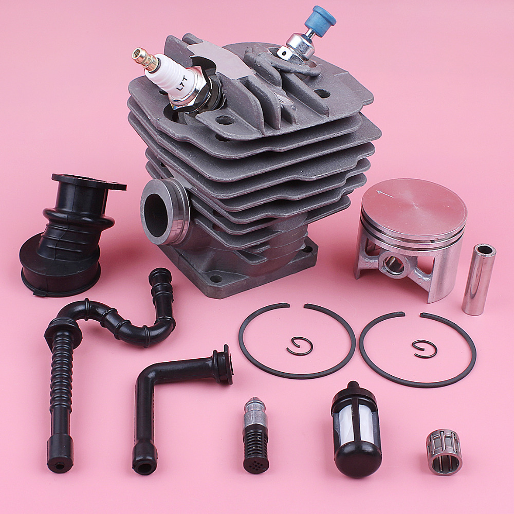 48mm Cylinder Piston Kit For Stihl MS360 036 034 Fuel Oil Filter Line Intake Manifold Decompression Valve Chainsaw Replace Part