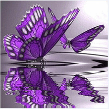Butterfly Flowers Diamond Embroidery 5D Diamond DIY Painting Cross Stitch Crafts 1 Set JAN11