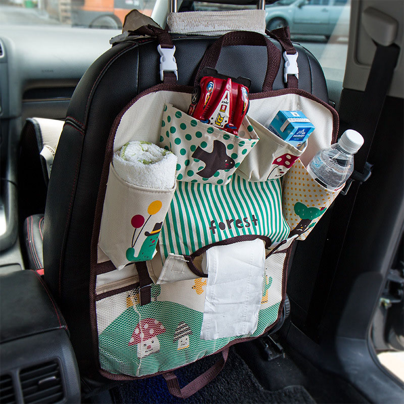 Travel Cartoon Baby Diaper Bags for Mom Car Seat Hanging Storage Bag portable car hangin ...