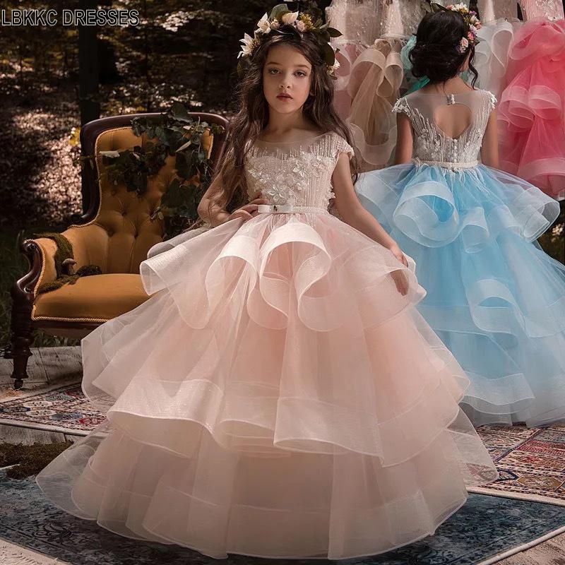 Flower     Girl     Dresses   Ball Gown Robe De Bal Enfant Evening Gowns   Dresses   For   Girls   Children Graduation Toddler Pageant   Dresses