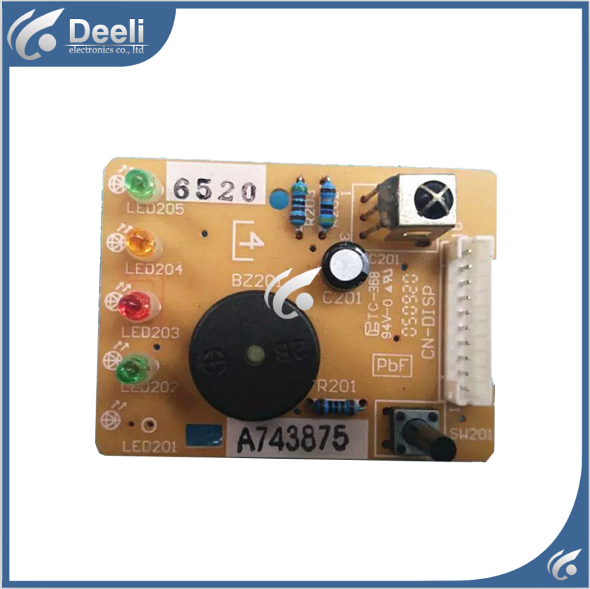 95% new good working for  Air conditioning display board remote control receiver board plate A743875 a pair 95% new original for buffer plate board th p55gt32c tnpa5340 tnpa5341 good board
