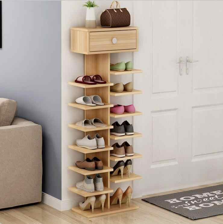 Louis Fashion Vertical E Multi Wooden Simple Small Cabinet Net Red Shoe Rack Province Moisture Proof Chinese Style