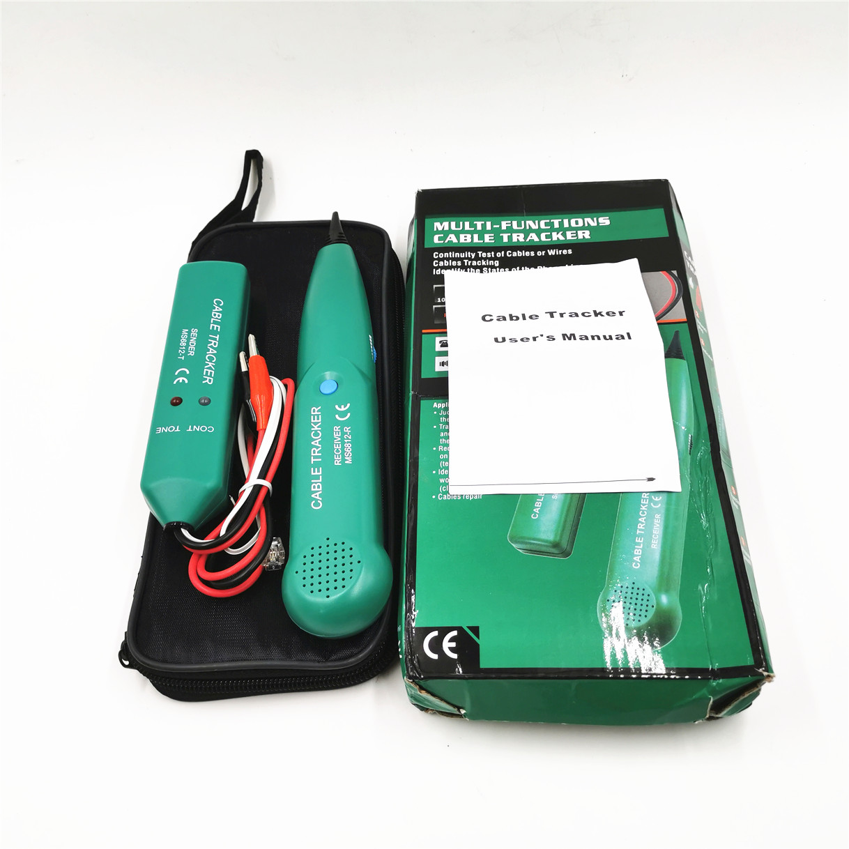 1 Pcs  MS6812 Wire Network Telephone Cable Tester Line Tracker With Carry Bag Telephone Networking Tools Wholesale