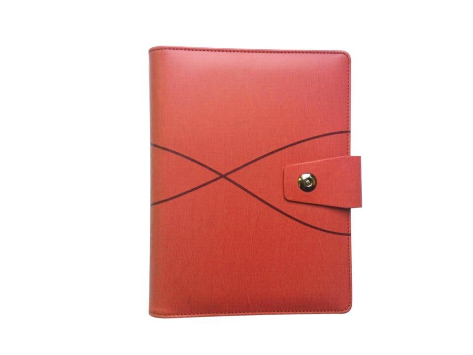 Дневник А5 записная книжка планировщик дня модный 6 колец переплет планировщик блокнот с календарем прозрачная ручка сумка цветные наклейки линейка - Цвет: Orange Red